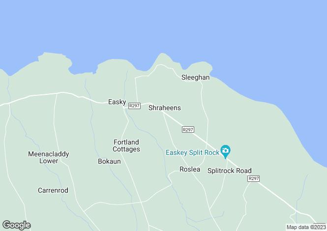 Map for Roslea, Easkey, Co Sligo