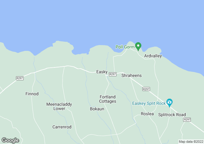 Map for Kileenduff & Ballymeeney, Easkey, Sligo