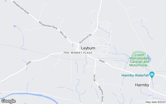 Map for Easy Property, Leyburn