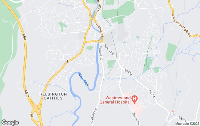 Map for Lancastrian Estates, Kendal