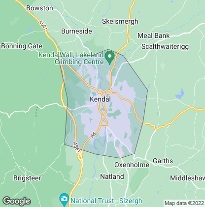 Map of property in Kendal