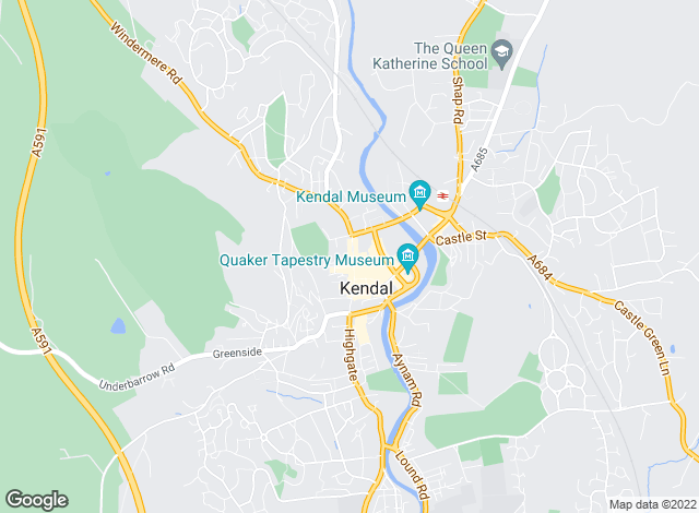 Map for Hackney & Leigh, Kendal
