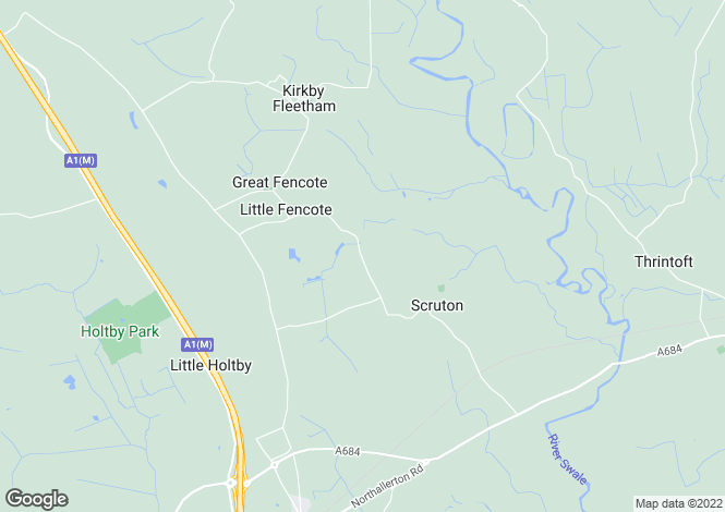 Map for Scruton Grange, Fleetham Lane, Scruton, Northallerton, North Yorkshire