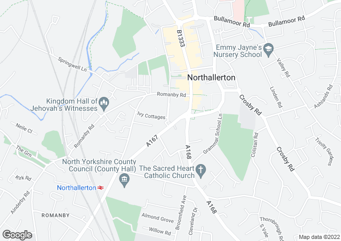 Map for South Parade Northallerton