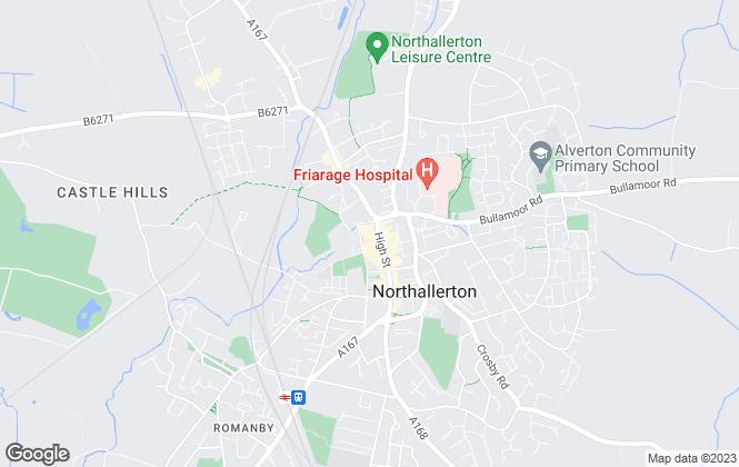 Map for Carver Residential, Northallerton