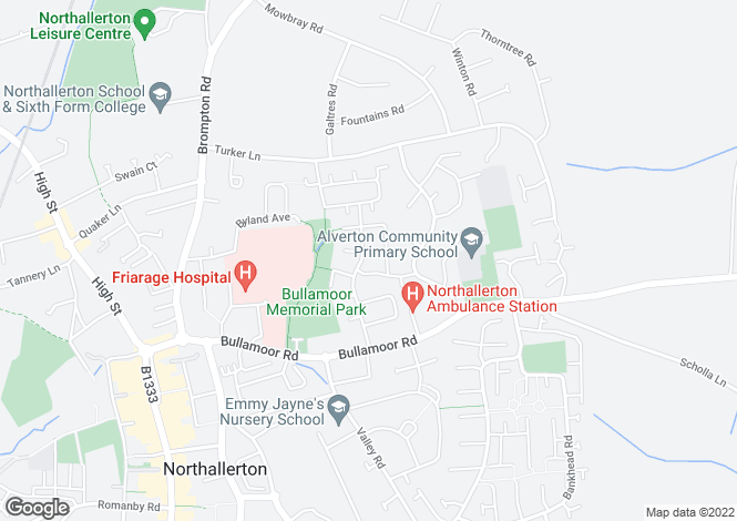 Map for Forest Road  Northallerton