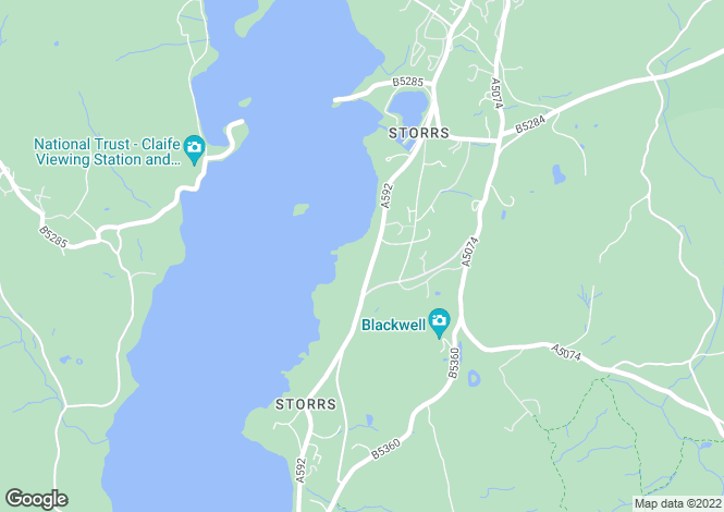 Map for Dove Wood, Storrs Park, Bowness on Windermere, Cumbria, LA23 3LB