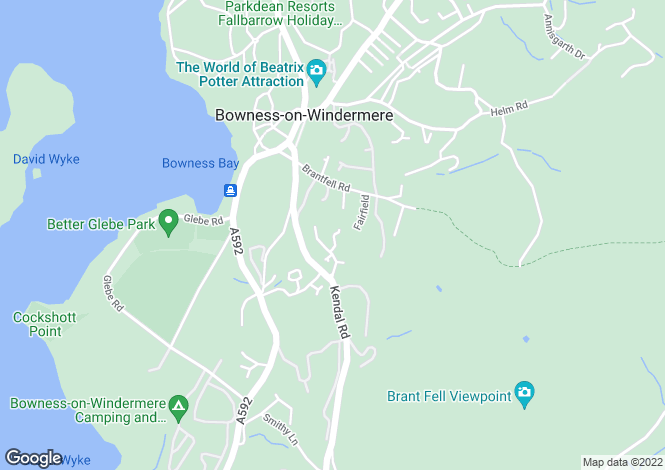 Map for Above The Bay, 5 Brackenfield, Bowness-on-Windermere, LA23 3HL