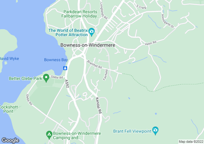 Map for Wardle How, Brantfell Road, Bowness-on-Windermere,LA23 3AE