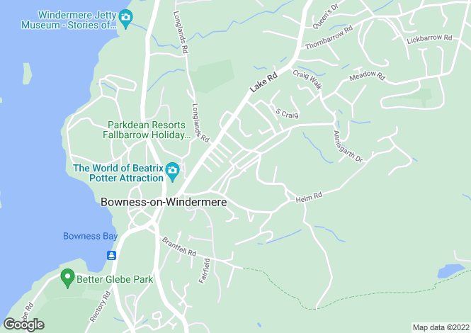 Map for 141a Craig Walk, Bowness on Windermere, Cumbria, LA23 3AX