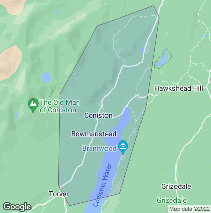 Map of property in Coniston