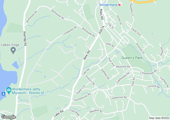Map for Oakdene, Brook Road, Windermere, LA23 2ED