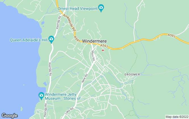 Map for Humberts, Windermere - Lettings