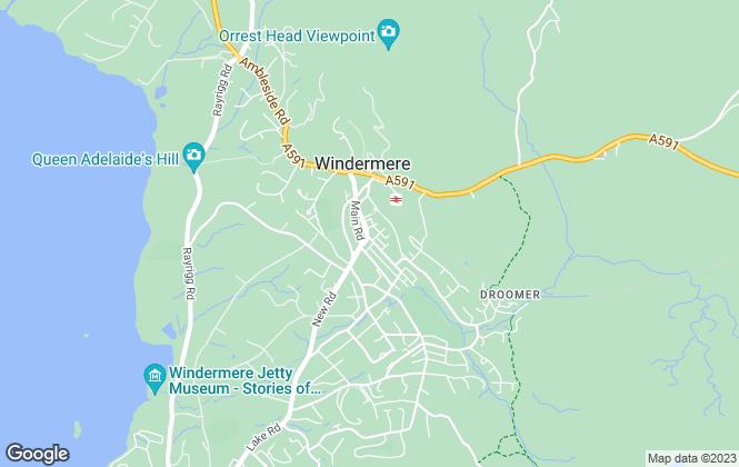 Map for Thomson Hayton Winkley Estate Agents, Windermere