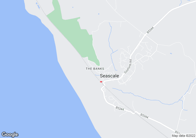 Map for The Banks, Seascale