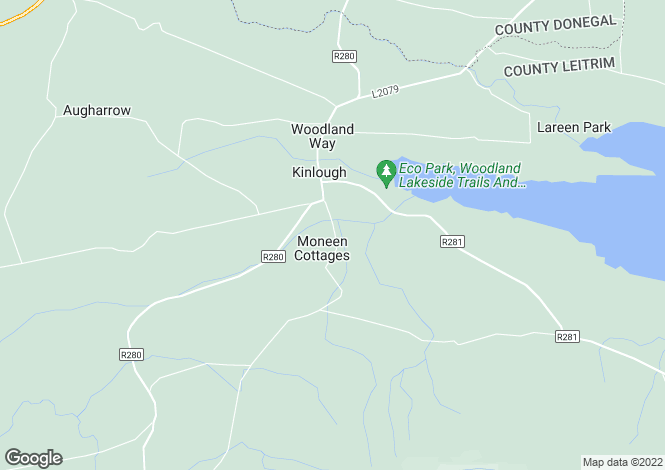 Map for 24 Millbrook, Kinlough, Leitrim