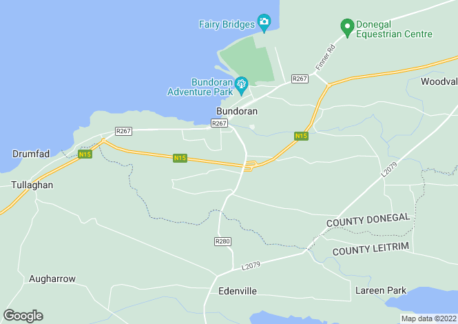 Map for 59 White maple , Bundoran, Donegal