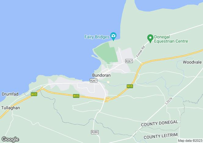 Map for 22 Atlantic Way, Bundoran, Donegal