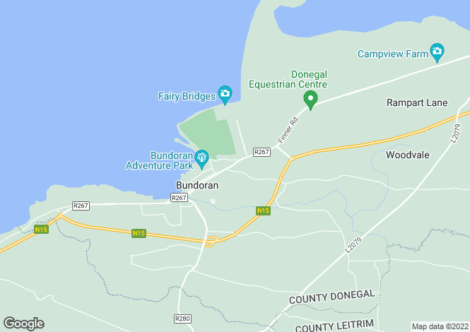 Map for 4 Doran Park, Bundoran, Donegal