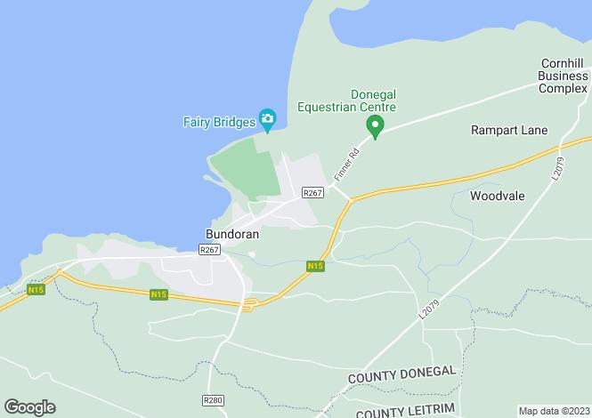 Map for 10 Armada Cottages, Bundoran, Donegal
