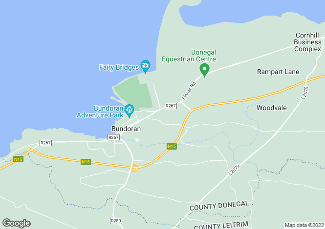 Map for 14 Armada Cottages, Bundoran, Donegal