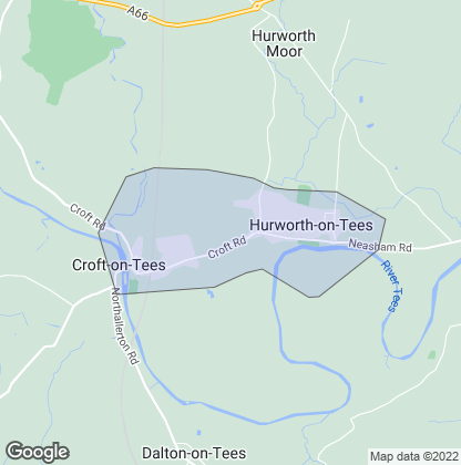 Map of property in Hurworth