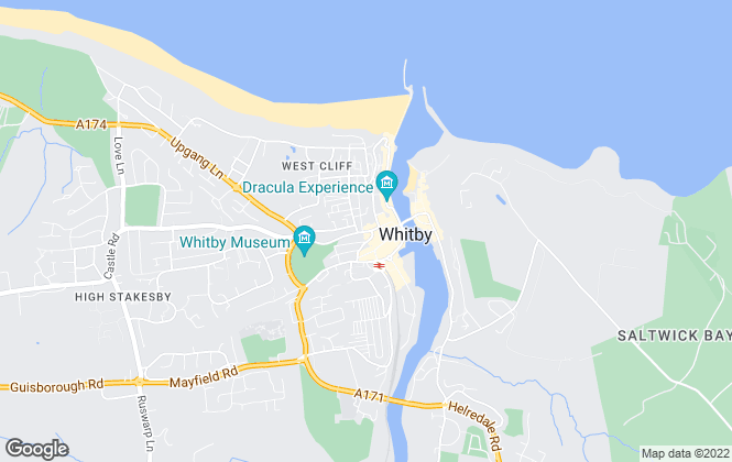 Map for Bridgfords, Whitby