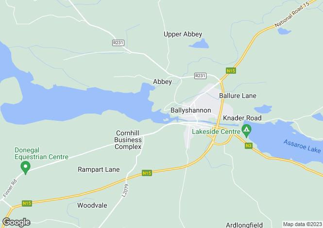 Map for Parkhill, Ballyshannon, Donegal