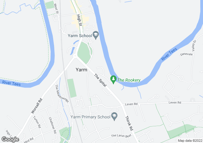 Map for Goose Pasture, Yarm