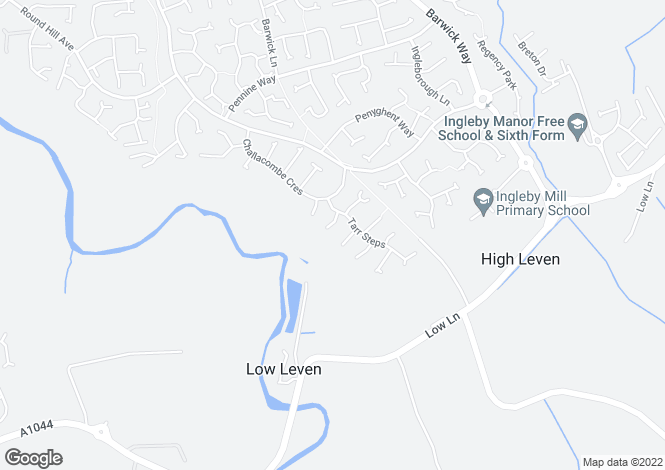 Map for Dulverton Close, Ingleby Barwick