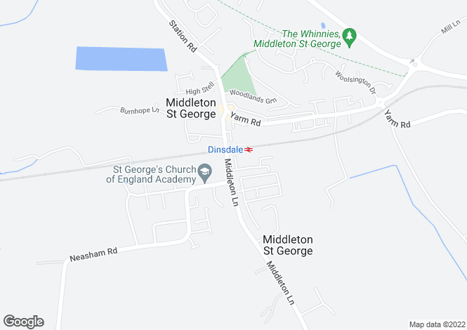 Map for Dinsdale Close,
