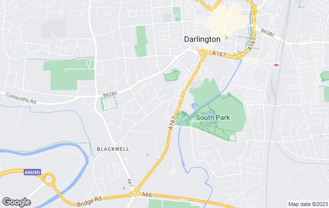Map for Sillars Properties, Darlington