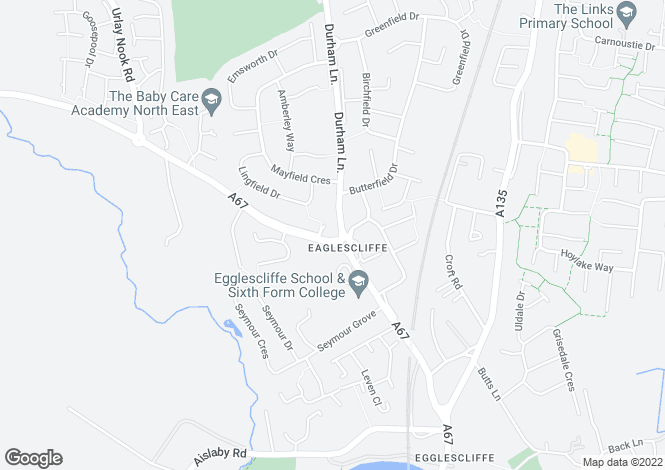 Map for EAGLESCLIFFE, Orchard Mews