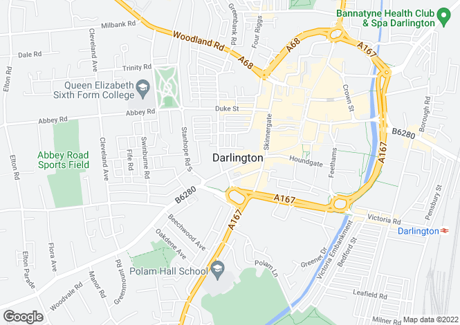 Map for Coniscliffe Road, Darlington