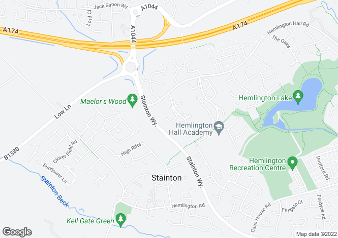 Map for Skiplam Close, Hemlington