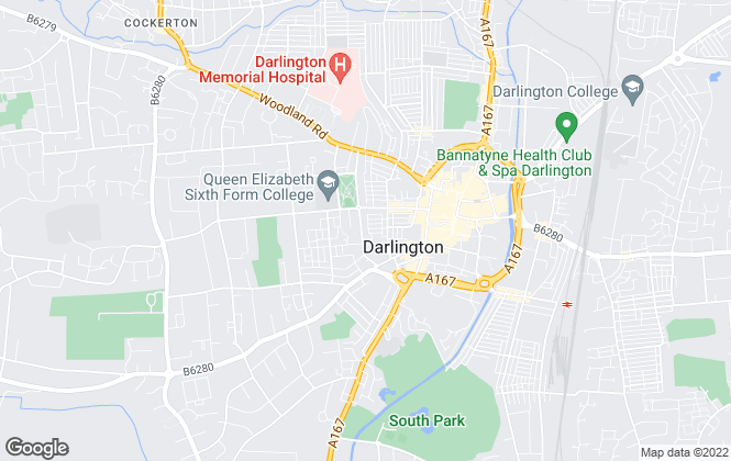 Map for Arc Estate Agents, Darlington