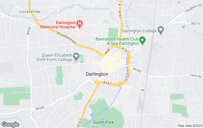 Map for YOUR MOVE, Darlington