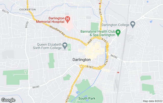 Map for The Letting Group, Darlington