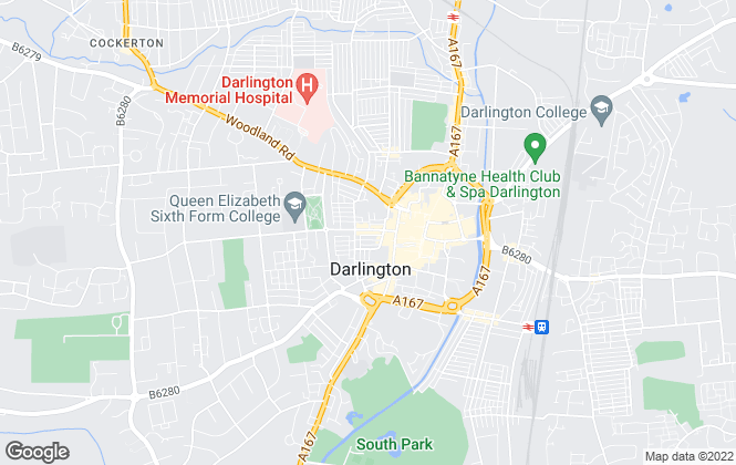 Map for Bridgfords Lettings, Darlington