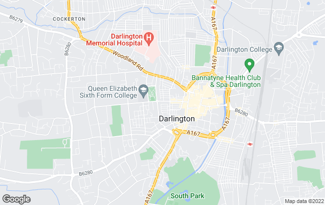 Map for Denham Properties, Darlington
