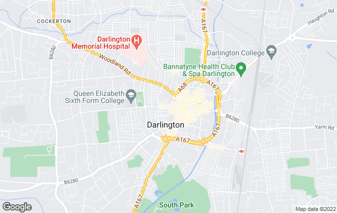 Map for Nationwide Property Management Ltd, Darlington - Lettings