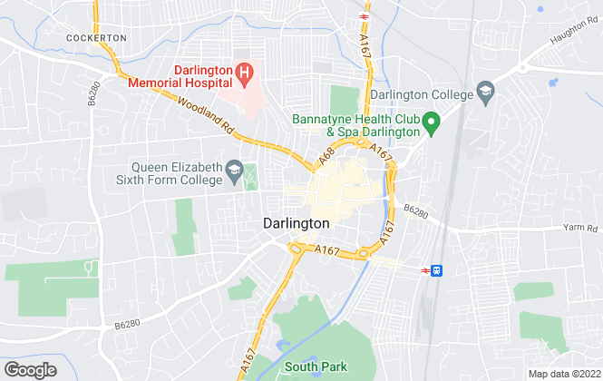 Map for Think Properties, Darlington