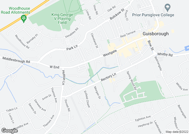 Map for Wilson Street, Guisborough, TS14
