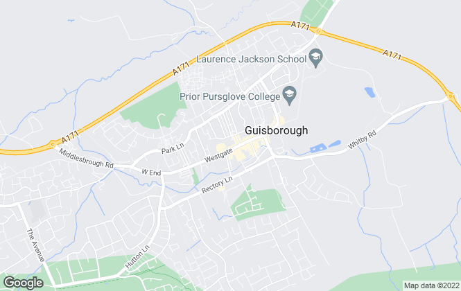 Map for Roger Darnton Estate Agents, Guisborough
