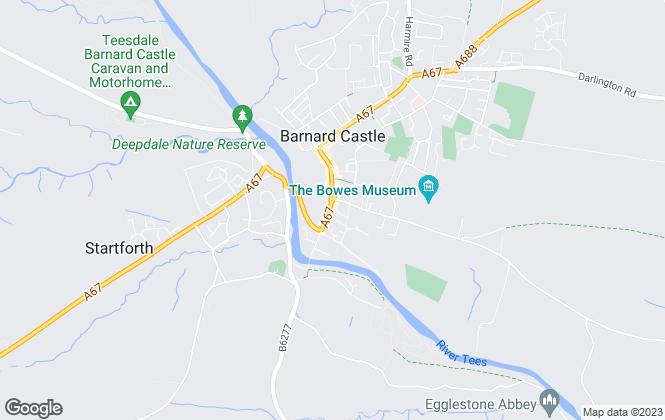 Map for GSC Grays, Barnard Castle