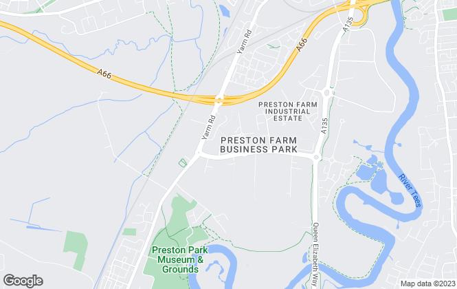 Map for Thomas : Stevenson, Middlesbrough