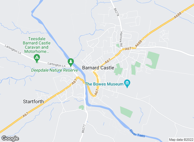 Map for Addisons Chartered Surveyors, Barnard Castle
