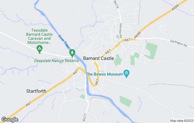Map for Addisons Chartered Surveyors, Barnard Castle
