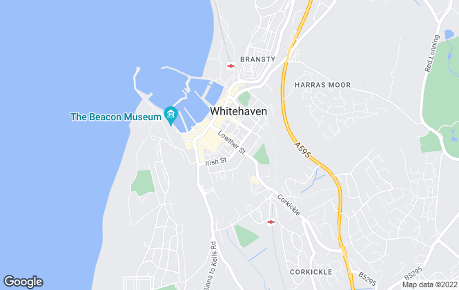 Map for Grisdales Estates Agents & Chartered Surveyors, Whitehaven