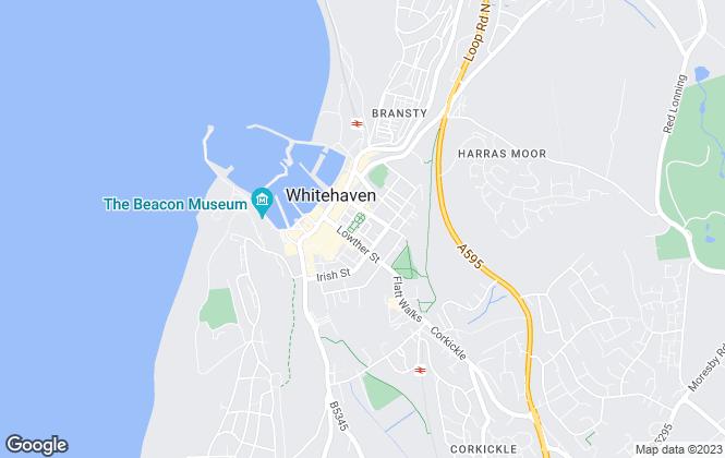 Map for Bulman, Whitehaven